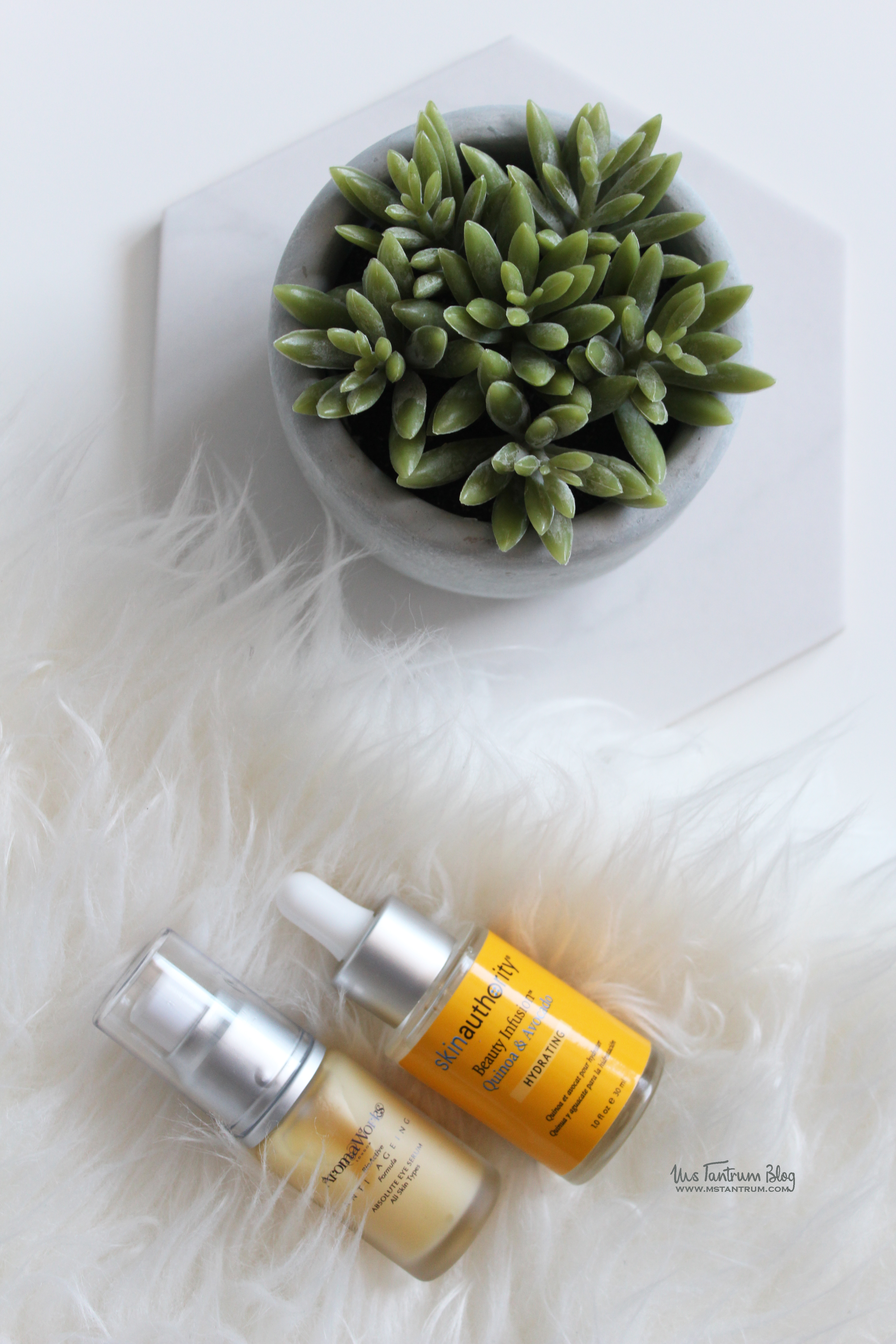 Skin Authority Infusion drops and Aromaworks eye serum on Ms Tantrum Blog
