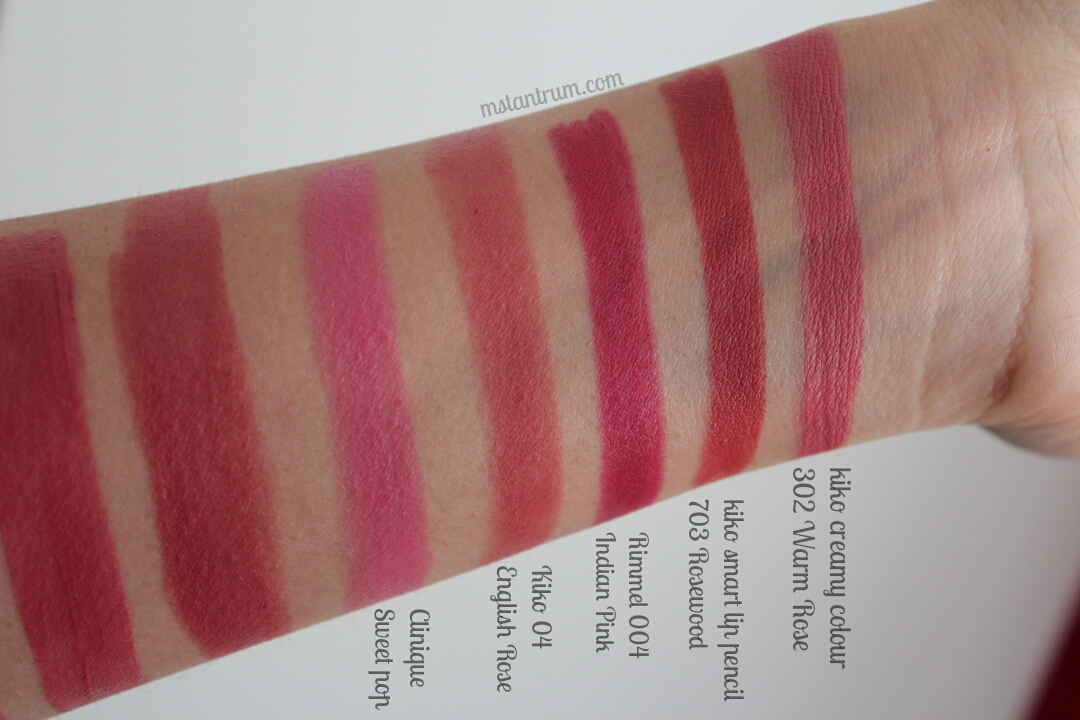 Spring lips swatches on mstantrum.com