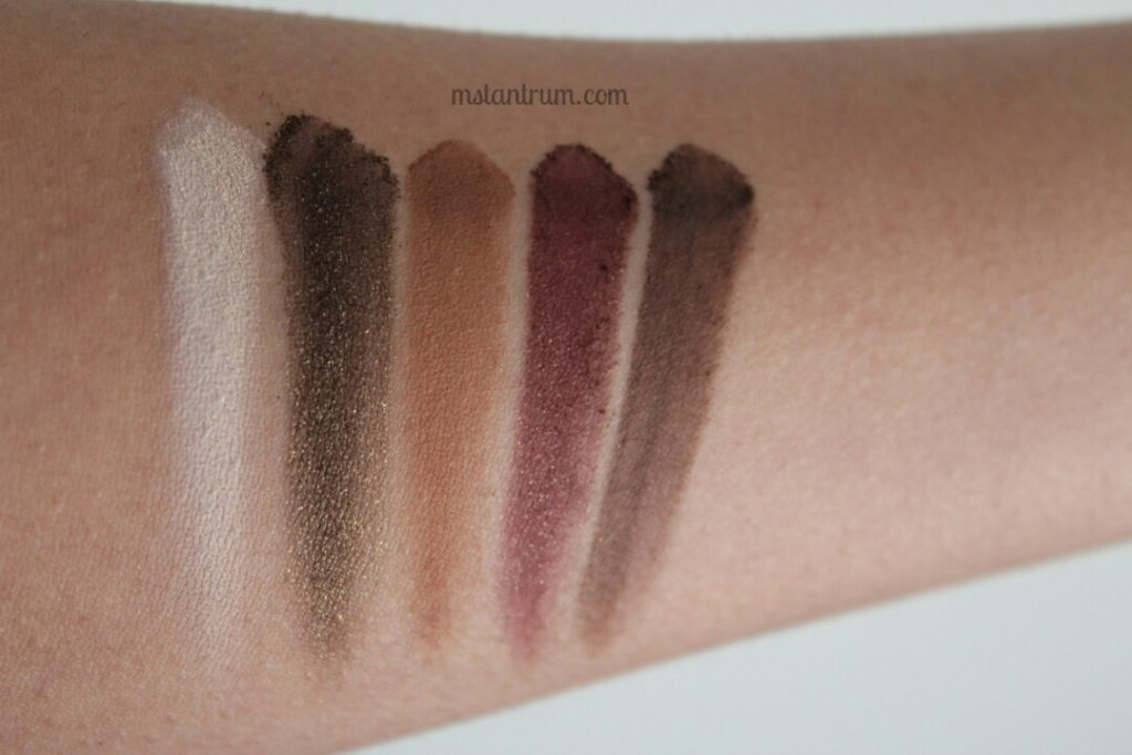 MUR chocolate palette swatches
