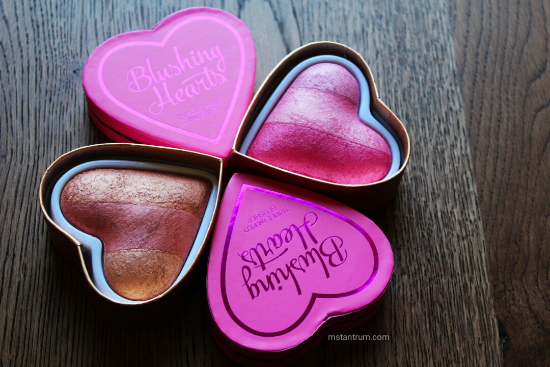 Makeup revolution's Blushing heart blushes