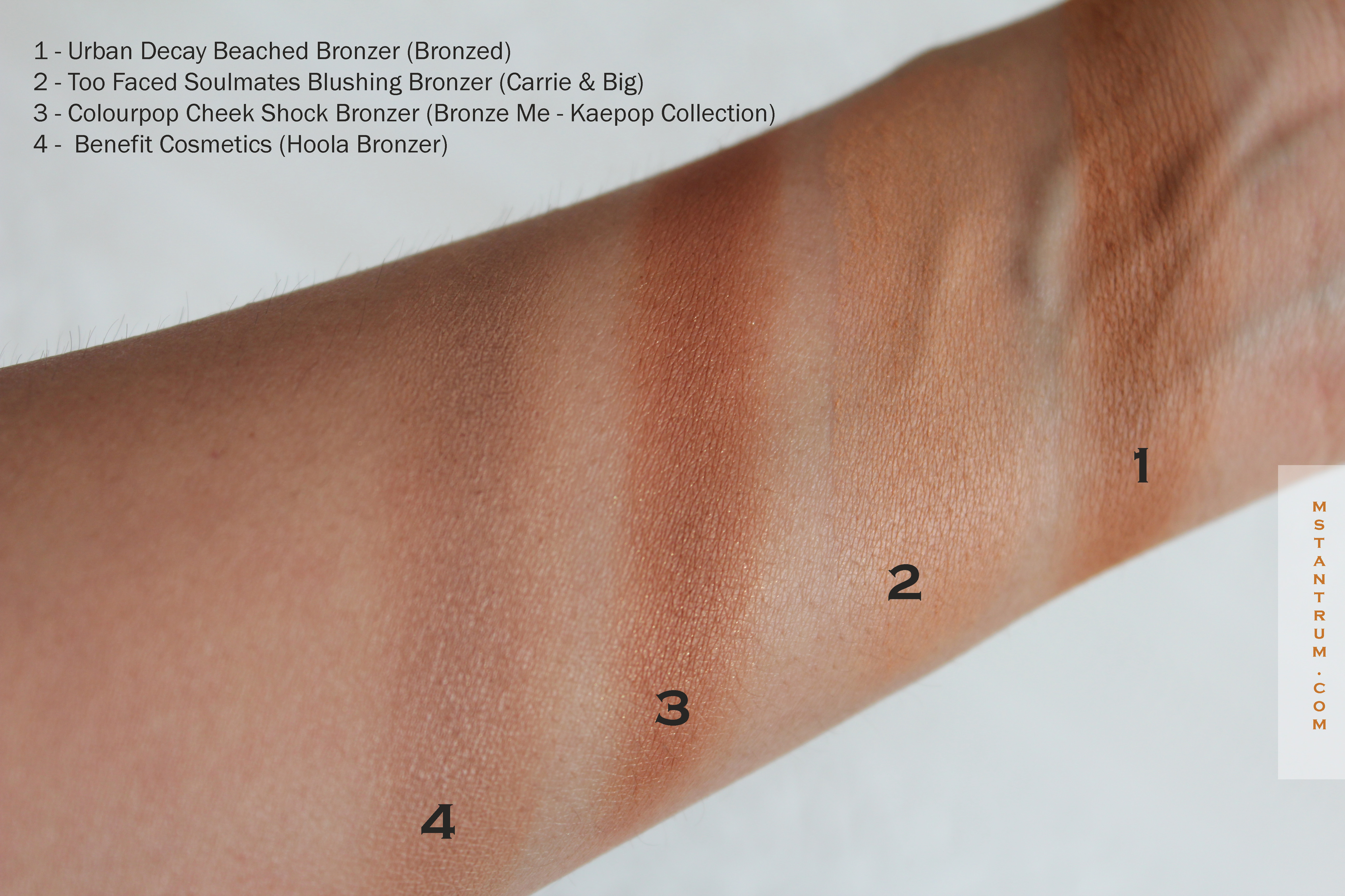 Bronzers for medium skintones