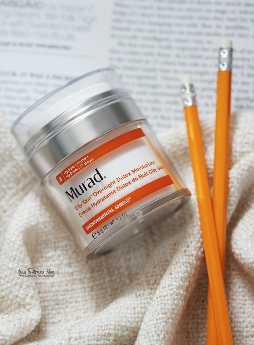 Murad city skin overnight detox moisturizer review on www.mstantrum.com