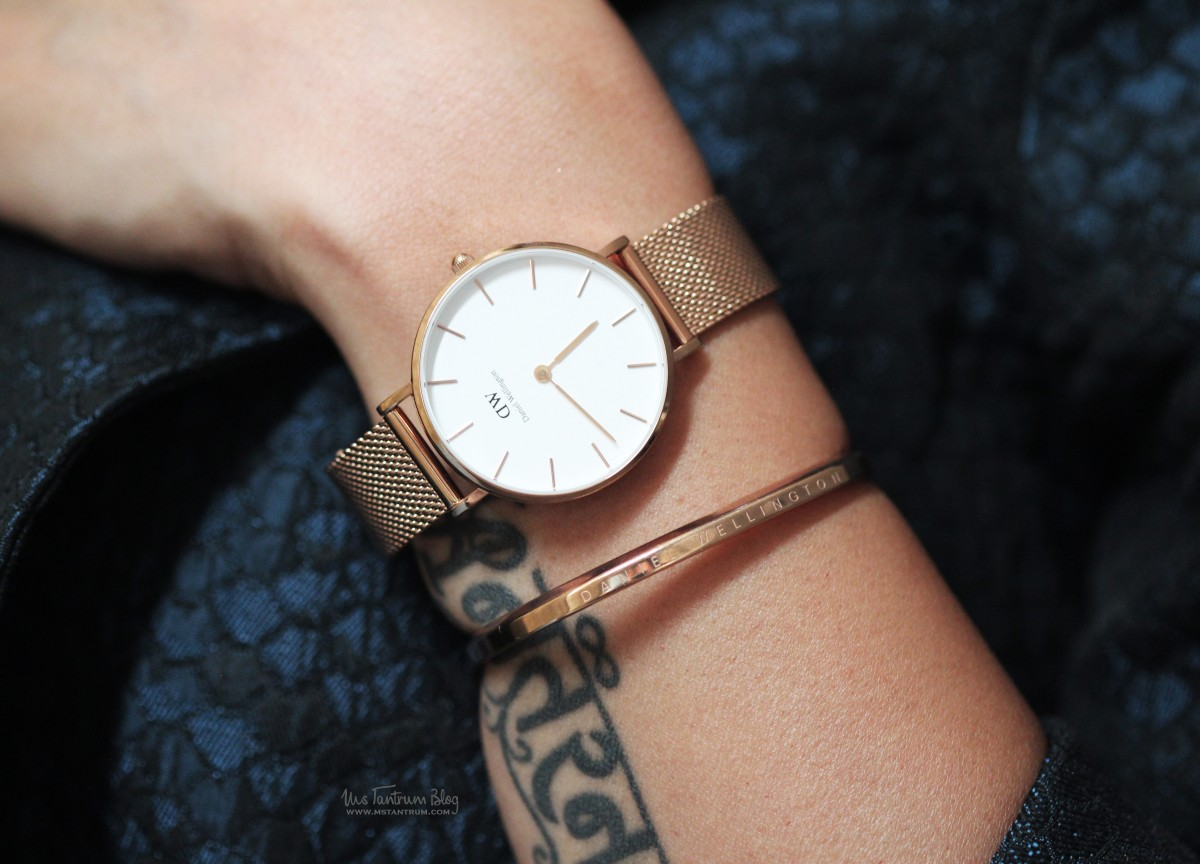 46ea4f8820ae Daniel Wellington Classic Petite Melrose Watch Review on www.mstantrum.com