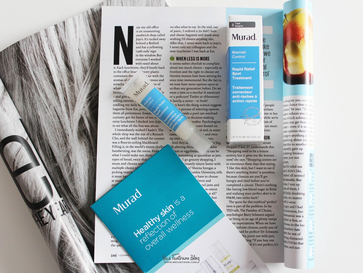Murad skincare rapid relief spot treatment review