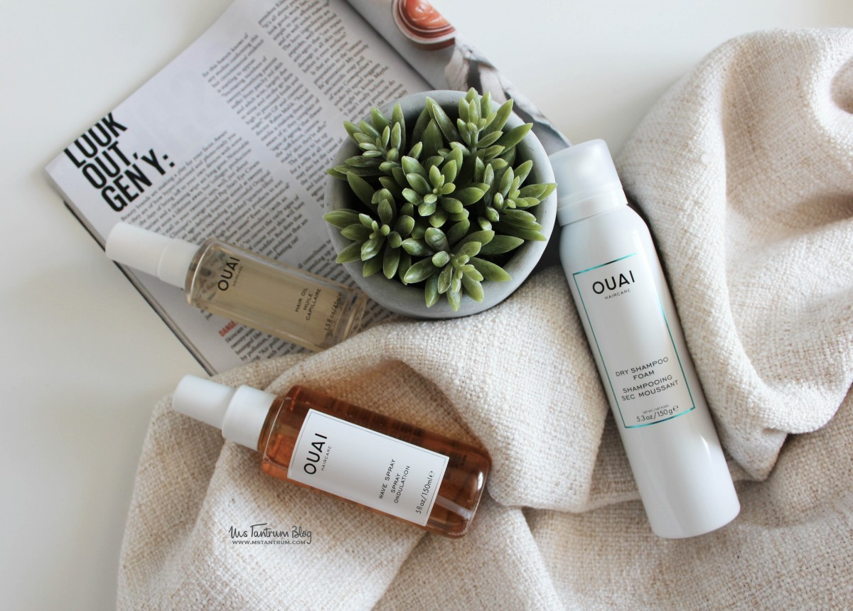 OUAI wave spray, dry shampoo foam, ouai hair oil