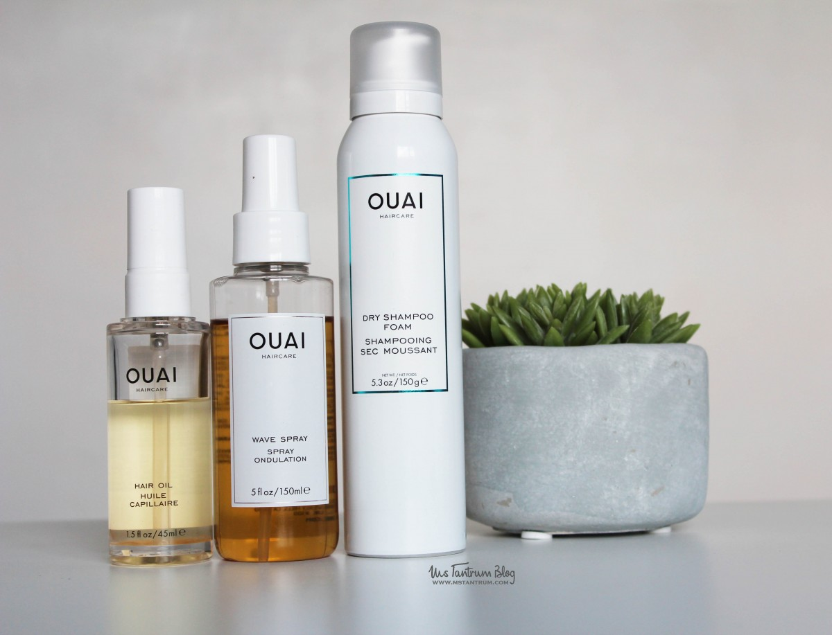 OUAI wave spray, dry shampoo foam, ouai hair oil on www.mstantrum.com