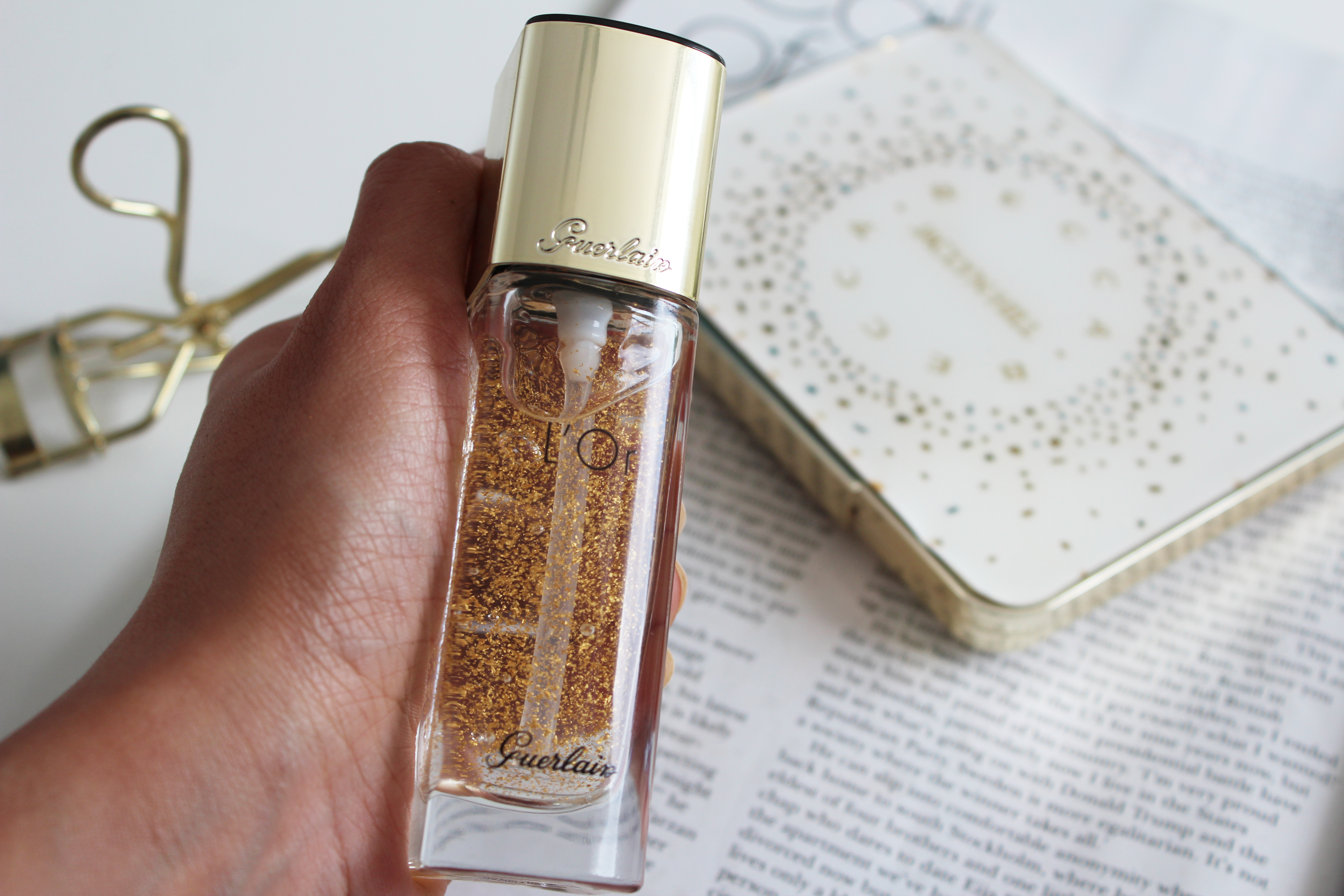 Guerlain L'or Radiance concentrate on Ms Tantrum Blog