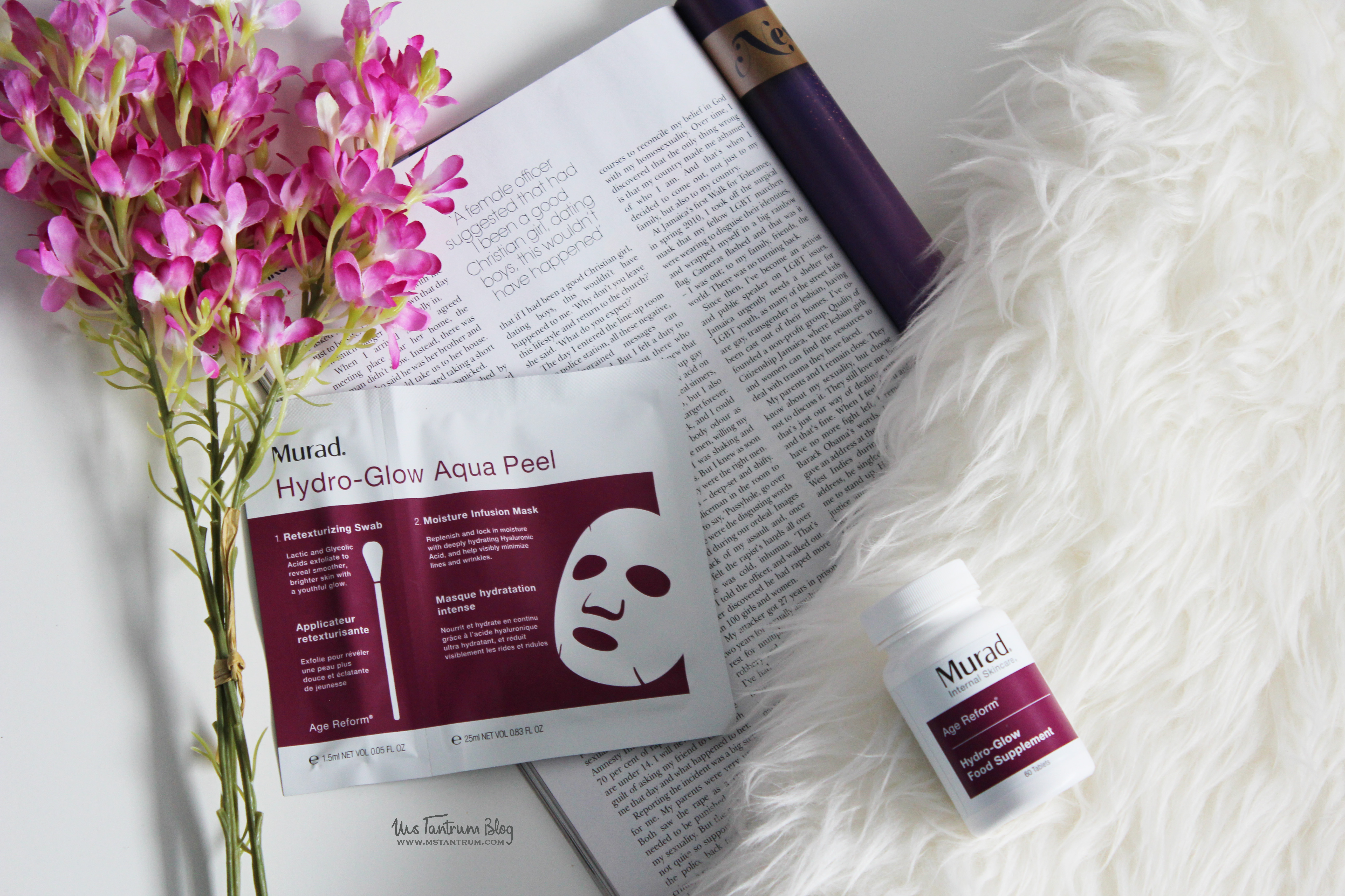 Murad Hydro Glow Range - Aqua Peel Mask & Dietary Supplements - Review on Ms Tantrum Blog