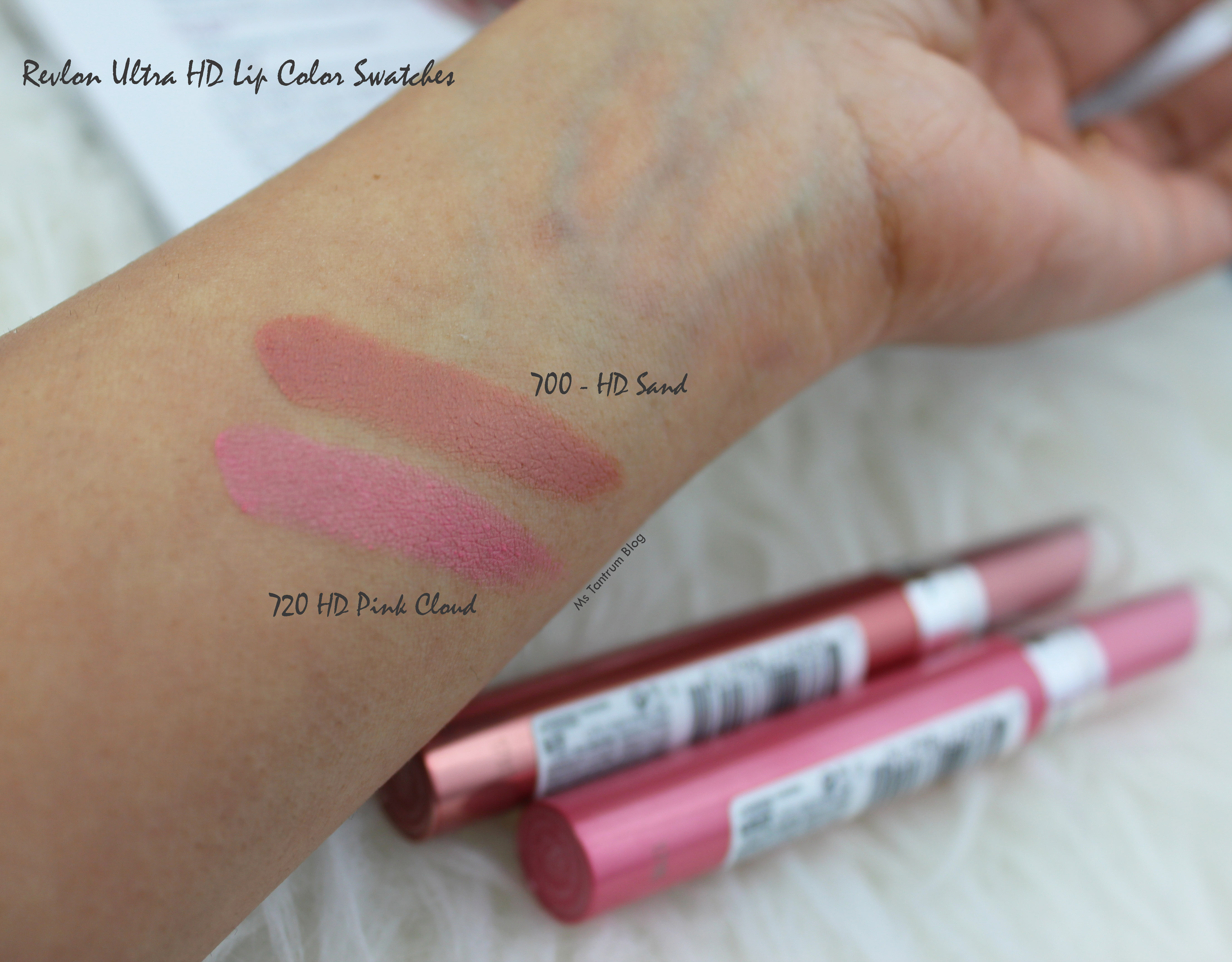 Revlon Ultra HD lip color swatches