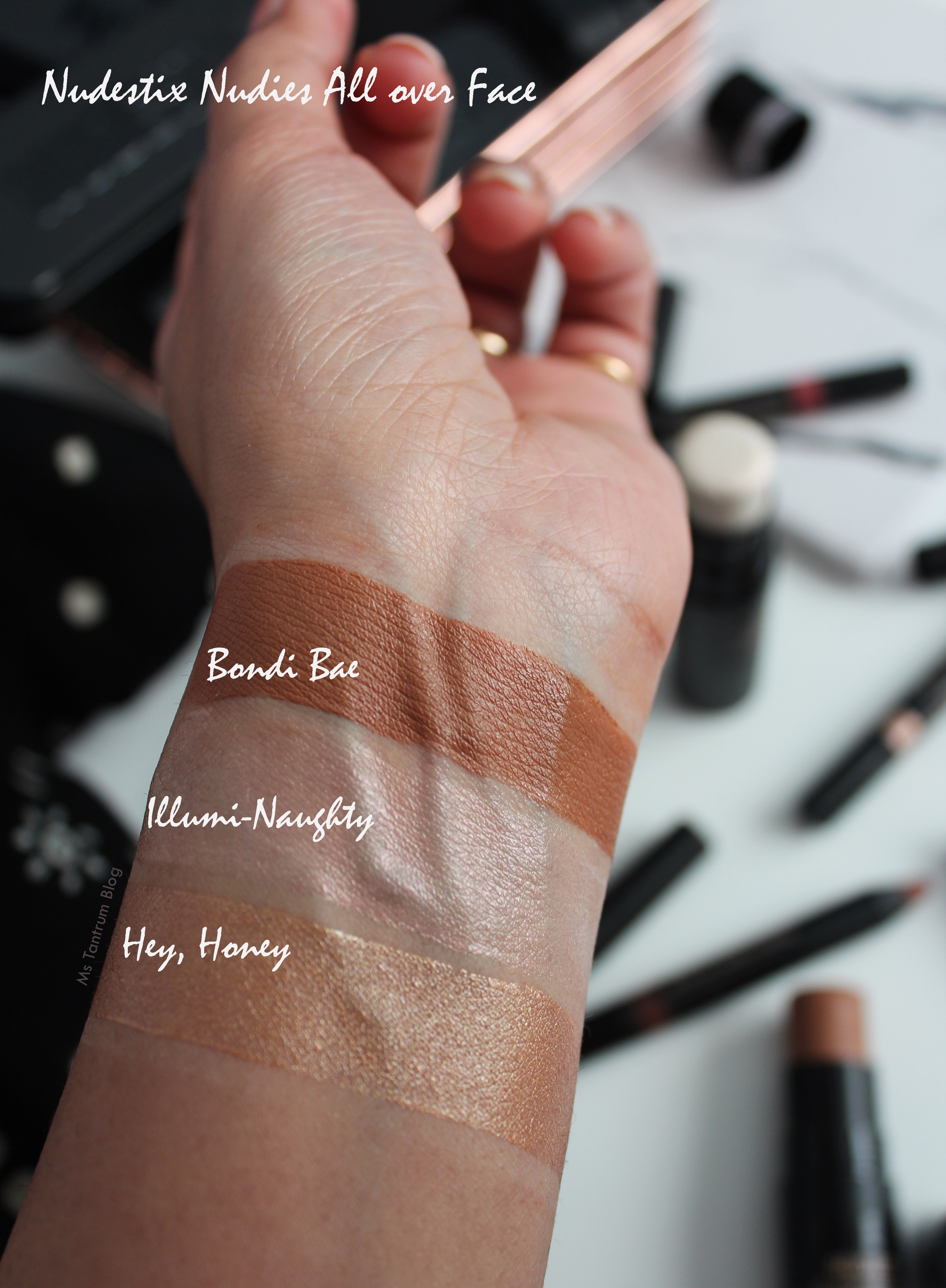 Nudestix Nudies All over Face Swatches - Ms Tantrum Blog
