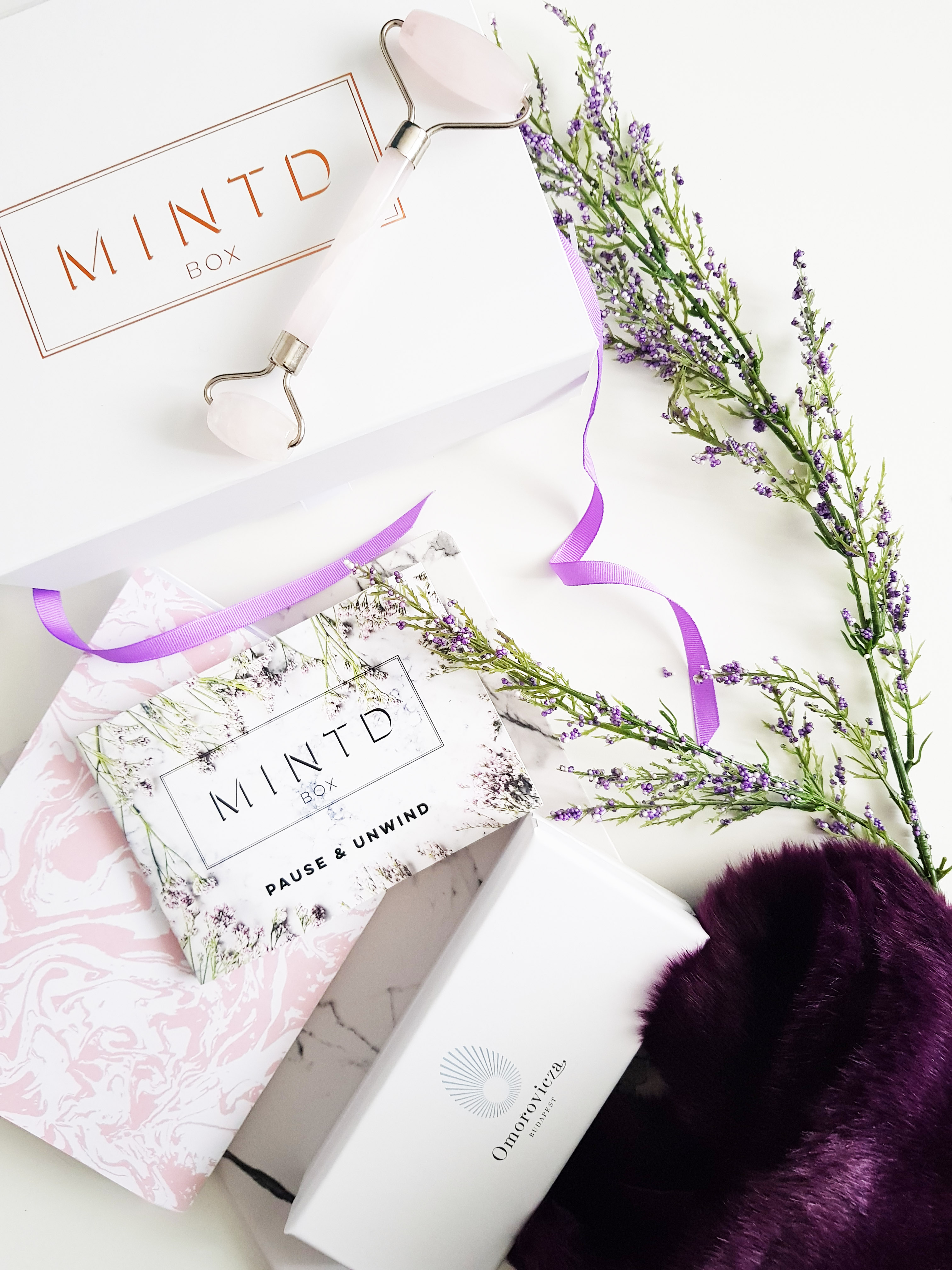 Mintd Box - Omorovicza Rose Quartz roller - Luxury Beauty Subscription Box